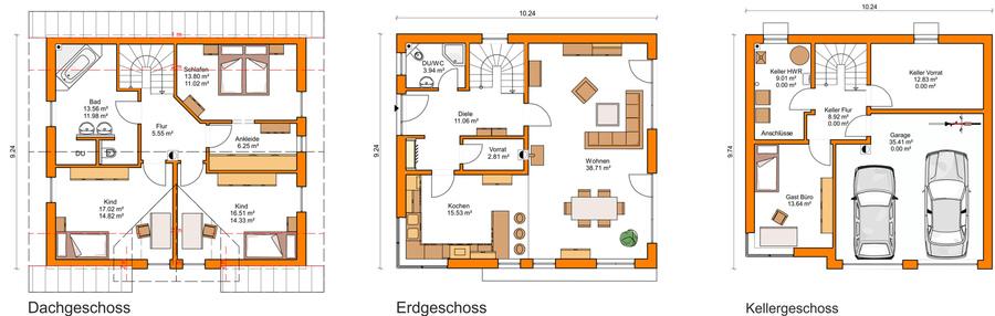 Einfamilienhaus grundriss mit doppelgarage  Grundrisse - Schmidt & Schmidt GmbH - Olsberg