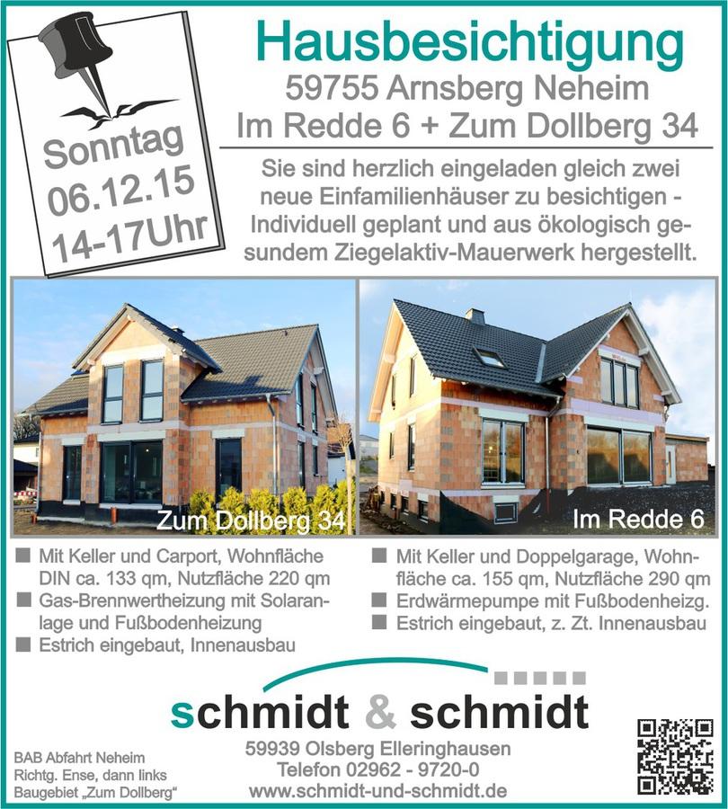 hausbesichtigung schmidt schmidt gmbh olsberg. Black Bedroom Furniture Sets. Home Design Ideas